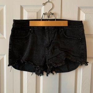 Faded Black Jean Shorts